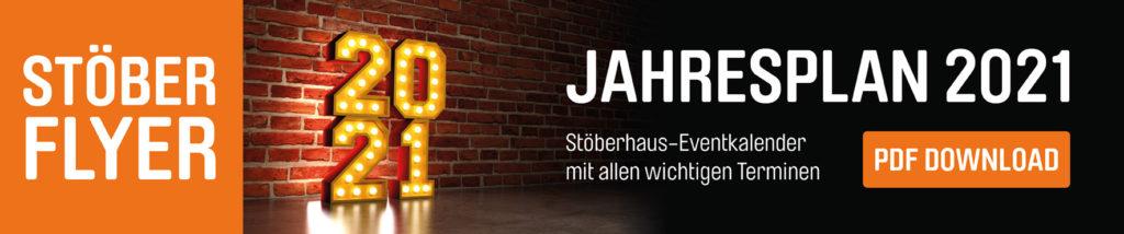 Stöberhaus Erfurt Flyer Jahresplan 2021